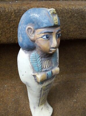 BEAUTIFUL ANCIENT EGYPTIAN ANTIQUE Hieroglyphs Ushabti Shabti Kingdom 600 Bc