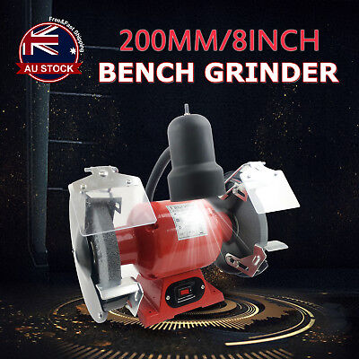 "8"" Bench Grinder 350W 200mm Knife Sharpener Power Tool Industrial Grinding L"