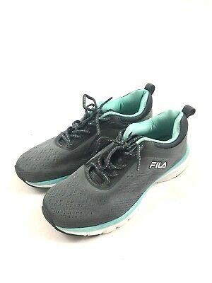 FILA Womens Tennis Shoes Size US 8 Mint Green Gray Memory Foam Running 83b233155