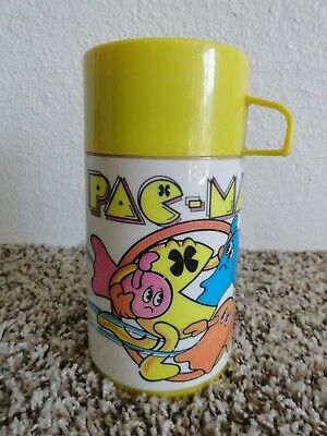 """Vgt 1980 Pac Man Thermos By Aladdin 7"""" Tall"""