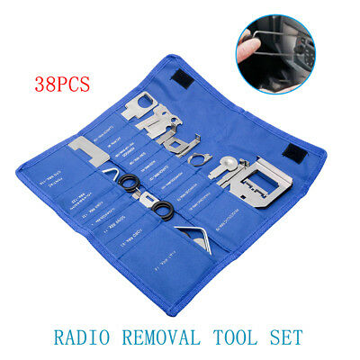 38pcs Car Stereo CD Radio Release Removal Tool Kit Head Audio Tools Unit Key Set