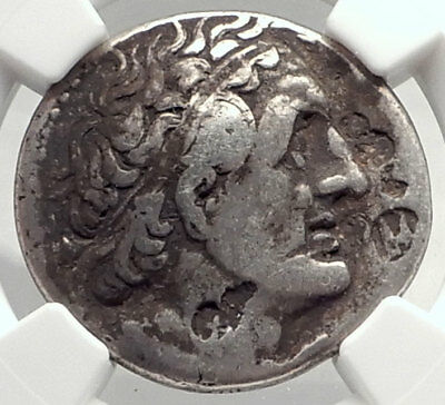PTOLEMY I Soter 305BC Ancient Egypt Silver Greek TETRADRACHM Coin NGC i72742