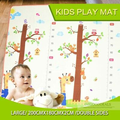 20mm Thick XL 2x1.8m Baby Toddler Play Mat Floor Rug Animal Orchard Alphabet EO