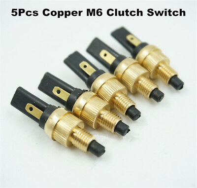 5 x 6mm Copper Motorcycle Brake Tail Light Front Rear Brake Clutch Switch Plug