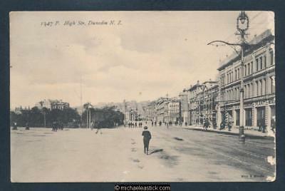 New Zealand High Street, Dunedin, Muir & Moodie Series No.1347 Postcard