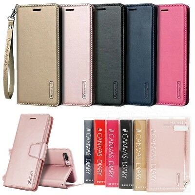 Original Hanman Magnetic Flip Leather Wallet Card Stand Case Cover For iPhone