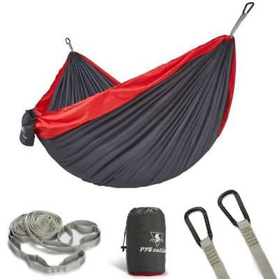 Double Portable Camping Hammock with Tree Straps Set with Max 1200 lbs Capacity