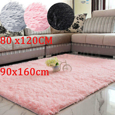90x160 Pink Soft Fluffy Shaggy Rugs Baby Pink Shaggy Rug For Living Room Bedroom