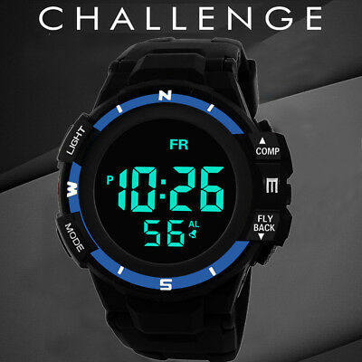 Luxury Men Analog Digital Military Army Sport LED Waterproof Wrist Watch