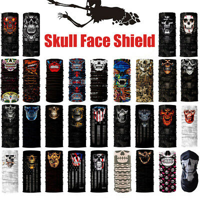 Skulls Face Shield Balaclava Neck Scarf Headwear Mask Sun Outdoor Sport Fishing