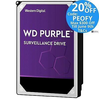 WD Purple 1TB 2TB 3TB 4TB 6TB 8TB 10TB 12TB Internal Surveillance Hard Drive HDD