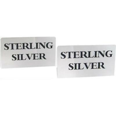 2 Sterling Silver Signs Showcase Countertop Displays