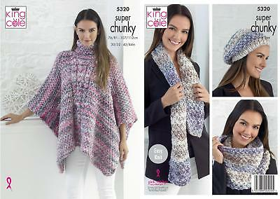 LADIES SCARF & Cowl In Big Value Chunky Yarn Knitting