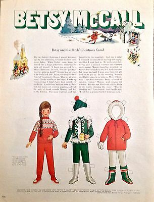 Vintage Betsy Mccall Vergrößerung Puppe, Betsy And The Bird's Carol, Dec.1969