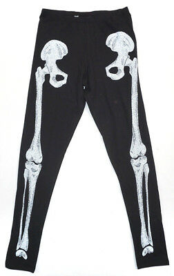Womens Adult Halloween Skeleton Bones Scary Leggings Dressing Up Outfit 10 14 20