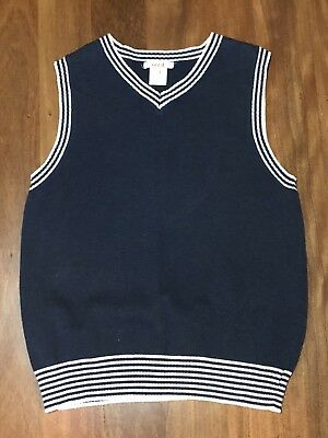 SEED BOYS COTTON KNIT NAVY BLUE  VEST *Size 7-8 *VG Used Condition *Smart Casual