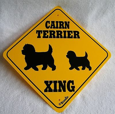 New Large Plastic Cairn Terrier Crossing Dog Yellow & Black Sign