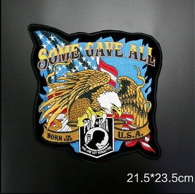 Embroidered Iron on/Sew on Patches -  POW MIA Some Gave All Eagle USA