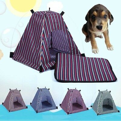 Outdoor Pet Tent Folding Striped Portable Cat Dog Puppy House Pets Supplies