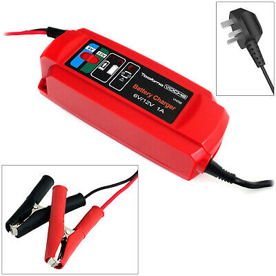 Voche 6V/12V 1Amp Fully Automatic Smart Intelligent Car Bike Battery Charger