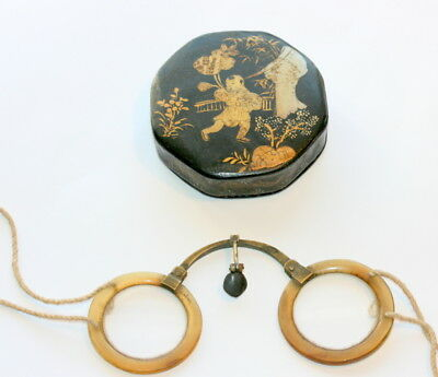 C1860  Authentic Chinese Spectacles +  Orig. Case Etui , All In Excellent Cond.