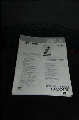 Service Manual  Sony  WM-R202