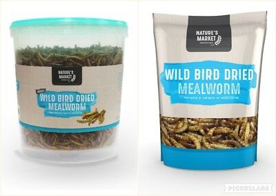 Wild Bird Feed Meal Worm Dried Bag Tub 80g 100g 400g 500g 1Kg Sizes Great Value!