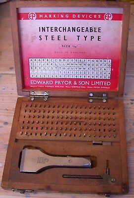 Pryor Numbers Letters Stamp Punch Set Fount