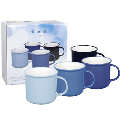 "WAECHTERSBACH 41 5 971 5000 ""Elements"" Kaffeebecher Ocean, Bone China Porzellan,"