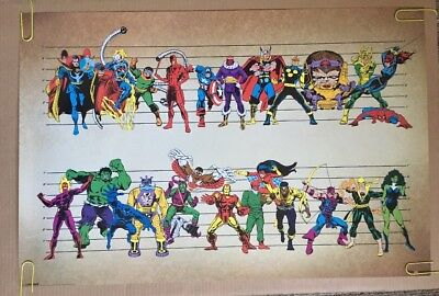 Art Poster Marvel All Superheroes Comic Collage 14x21 24x36 Hot Y2573