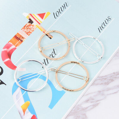 2Pc Fashion Minimalist Style Geometric Round Hairpin Hair Clip for Women Girl pp