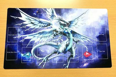 F1807+ Free Mat Bag Deep-Eyes White Dragon Yugioh TCG Custom Playmat With Zones