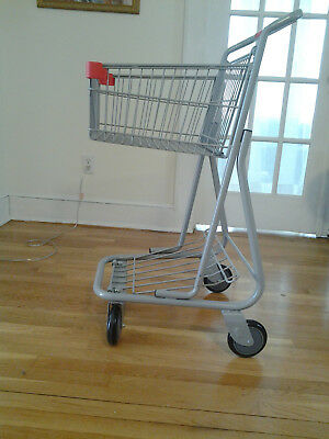 New mini retail shopping cart grey color 40x22x20.5 inch 75lb basket capacity