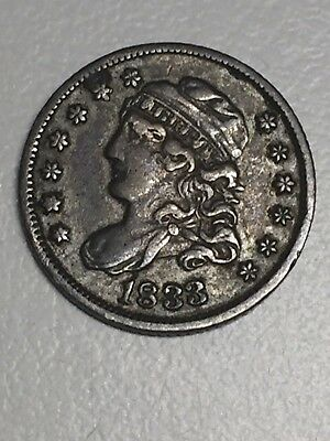1833 Capped Bust Silver Half Dime VF-XF