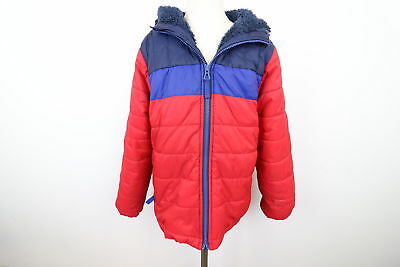 08f4fdea0 LANDS END RED Sherpa Lined Boys Puffer Jacket Size S/8 - $20.73 ...