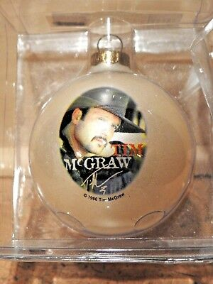 TIM McGRAW, ROCKSHOP LIMITED EDITION COLLECTIBLES CHRISTMAS ORNAMENT 1996, NEW!