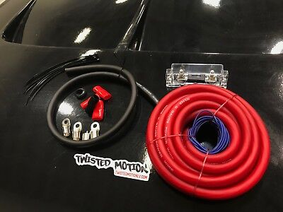 Twisted Motion Battery Relocation Kit Zero Gauge Wire Usa Made!!