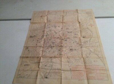 Antique Large Map Of Rome Compliments Of The American Red Cross