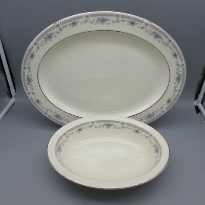 SET OF TWO - Minton Bone China BELLEMEADE Oval Servers