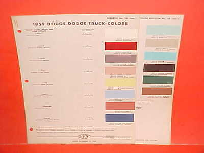 1959 Dodge Car Custom Royal Convertible Coronet Sierra Station Wagon Paint Chips
