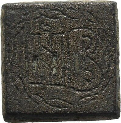 Lanz Rome Byzantine Empire Square Coin Weight 2  Nomisma Solidus Bronze ±Bec395