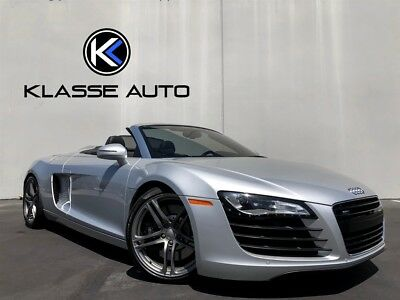 R8 4.2 Quattro Spyder 2012 Audi R8 4.2 Quattro Spyder 6 Speed Manual Convertible Only 18k Miles Wow