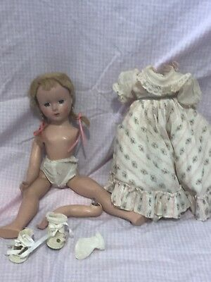 """Vintage Madame Alexander Little Women Amy 14"""" Doll 1950's Tagged Dress"""