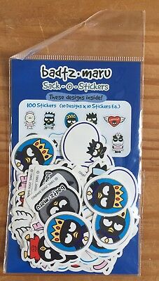 Sanrio BADTZ MARU Stickers!  Small Sack of 100 stickers! 10 designs Dated 2000