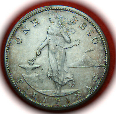 1909-S Phillipines U.S. Territorial Issue Silver PESO Coin - No Reserve!!