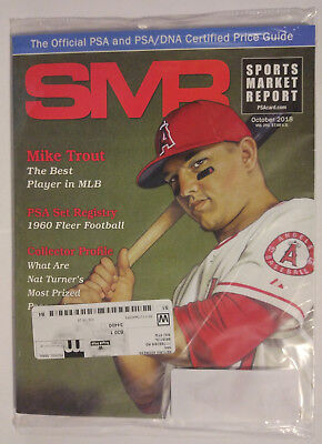 SMR Sports Market Report PSA/DNA Guide Magazine #291 Mike Trout Oct 2018 SEALED