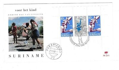 Surinam Bl.9 FDC 1969 VOOR HET KIND SPIELEN CHILDREN ENFANT BRIEF COVER