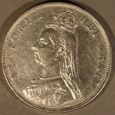 1887 Great Britain Double Florin Arabic 1 Nice Details ** FREE U.S SHIPPING **