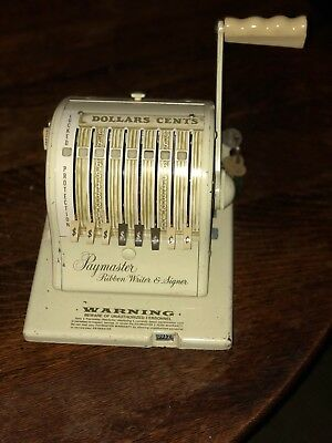 Vintage Paymaster Ribbon Writer and Signer Check Machine Series 875 | With Keys