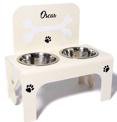 raised dog stand bowls elevated feeder